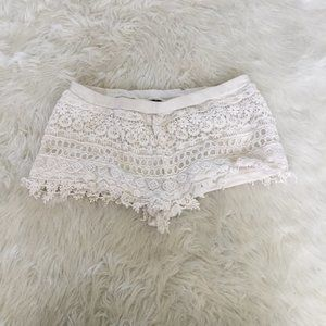 Divided H&M White Lace Shorts